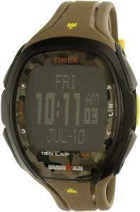 [タイメックス]Timex  Iron Man Army Green/Black Rubber Quartz Watch tw5m01100 メンズ