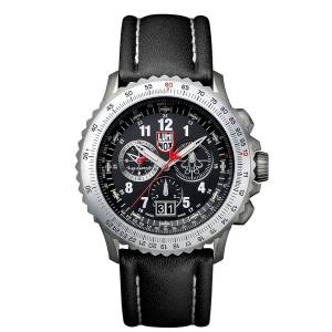 [ルミノックス]Luminox 9241 Air F22 Raptor 9240 Black Dial Black Leather Strap Chrono XA.9241