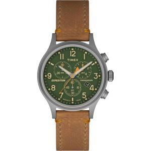[タイメックス]Timex 腕時計 Expedition Scout Chrono Tan Strap Green Dial Watch TW4B04400JV