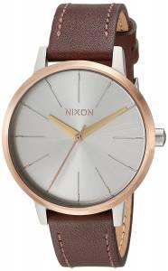 [ニクソン]NIXON  'Kensington' Quartz Stainless Steel and Leather Casual Watch, A1082632-00