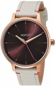 [ニクソン]NIXON  'Kensington Leather' Quartz Stainless Steel Casual Watch, A1081890-00