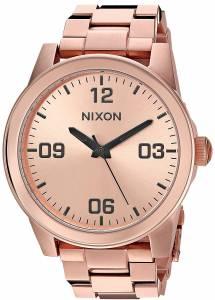 [ニクソン]NIXON 'G.I. SS' Quartz Stainless Steel Casual Watch, Color:Rose GoldToned A919897-00