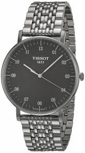[ティソ]Tissot  Everytime T109.610.11.077.00 Black/Silver Stainless Steel Analog T1096101107700