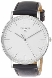 [ティソ]Tissot  Everytime T109.610.16.031.00 Silver/Black Leather Analog Quartz T1096101603100