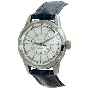 [ハミルトン]Hamilton 腕時計 Railroad Mother Of Pearl Dial Blue Leather Watch H40405691