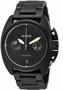 [ニクソン]NIXON  'Anthem Chrono' Swiss Quartz Stainless Steel Watch, Color:Black A9301256