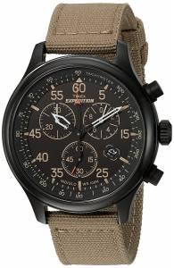 [タイメックス]Timex  Expedition Field Chrono Black/Tan Canvas Strap Watch TW4B102009J