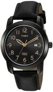 [タイメックス]Timex 腕時計 Easy Reader Black Leather Strap Watch TW2R298009J メンズ