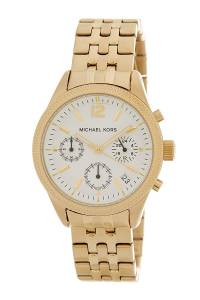 [マイケル・コース]Michael Kors  Ritz GoldTone Chronograph Watch MK6132 レディース