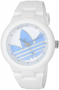 [アディダス]adidas 'Aberdeen' Quartz Plastic and Silicone Casual Watch, Color:White ADH3142?