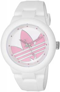 [アディダス]adidas  'Aberdeen' Quartz Plastic and Silicone Casual Watch, Color:White ADH3143