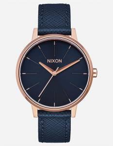 [ニクソン]NIXON 腕時計 Kensington Leather Watch Navy/ Rose Gold A1082195 レディース