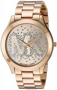 [マイケル・コース]Michael Kors  Slim Runway Logo GoldTone Watch MK3590 レディース