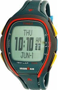 [タイメックス]Timex 9J Ironman Sleek 150 Digital Display Watch, Green Resin Band, TW5M00700