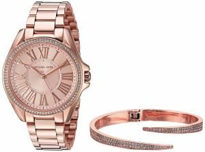 [マイケル・コース]Michael Kors  Kacie Rose GoldTone Watch and Bracelet Gift Set MK3569