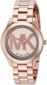 [マイケル・コース]Michael Kors  Mini Slim Runway Logo GoldTone Watch MK3549 レディース