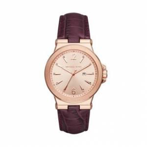 [マイケル・コース]Michael Kors  Dylan Rose GoldTone Burgundy Watch MK2602 レディース