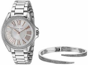 [マイケル・コース]Michael Kors  Kacie SilverTone Watch and Bracelet Gift Set MK3567