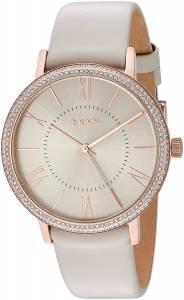 [ダナキャラン]DKNY  'Willoughby' Quartz Stainless Steel and Leather Casual Watch, NY2545