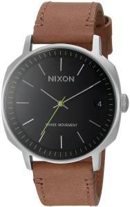 [ニクソン]NIXON  'Regent II' Swiss Quartz Stainless Steel and Leather Casual Watch, A973000-00