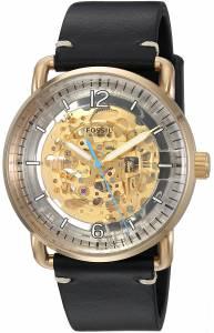 [フォッシル]Fossil 腕時計 The Commuter Automatic Black Leather Watch ME3143 メンズ