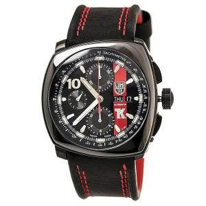 [ルミノックス]Luminox 1181 Tony Kanaan Valjoux Automatic Black Dial Black Leather XL.1181