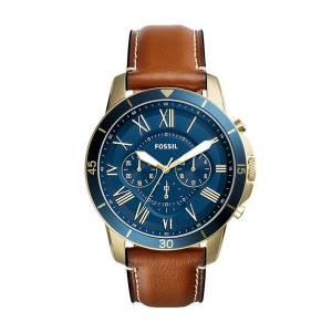 [フォッシル]Fossil 腕時計 Grant Sport Chronograph Luggage Leather Watch FS5268 メンズ