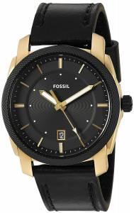 [フォッシル]Fossil 腕時計 Machine ThreeHand Date Black Leather Watch FS5263 メンズ
