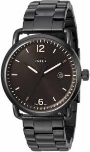 [フォッシル]Fossil  The Commuter ThreeHand Date Black Stainless Steel Watch FS5277 メンズ