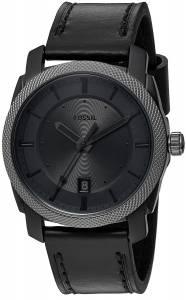 [フォッシル]Fossil 腕時計 Machine ThreeHand Date Black Leather Watch FS5265 メンズ
