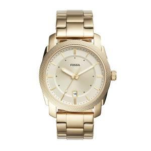 [フォッシル]Fossil  Machine ThreeHand Date GoldTone Stainless Steel Watch FS5264 メンズ
