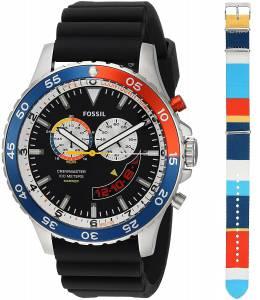 [フォッシル]Fossil Special Edition Crewmaster Mariner Chronograph Black Silicone Watch LE1046