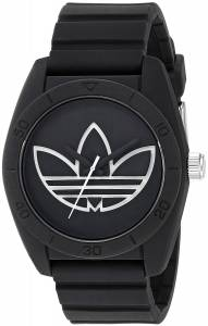 [アディダス]adidas  'Santiago' Quartz Plastic and Silicone Casual Watch, Color:Black ADH3189