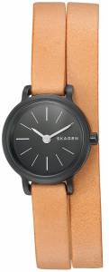 [スカーゲン]Skagen 腕時計 Hagen Brown Leather Double Wrap Watch SKW2599 レディース