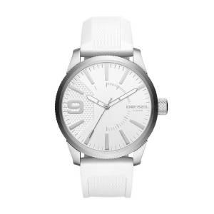 [ディーゼル]Diesel 腕時計 Rasp Stainless Steel White Silicone Watch DZ1805 メンズ