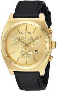 [ニクソン]NIXON 'Time Teller Chrono' Quartz Stainless Steel and Leather Casual A1164510-00