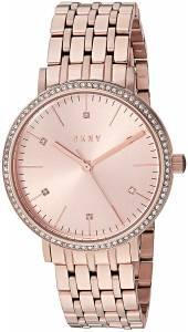 [ダナキャラン]DKNY 'Minetta' Quartz and StainlessSteelPlated Casual Watch, Color:Rose NY2608