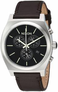 [ニクソン]NIXON 'Time Teller Chrono' Quartz Stainless Steel and Leather Casual A11641037-00