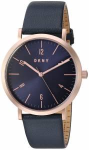 [ダナキャラン]DKNY  'Minetta' Quartz Stainless Steel and Leather Casual Watch, NY2614