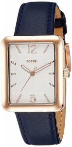[フォッシル]Fossil 腕時計 Atwater ThreeHand Navy Leather Watch ES4158 レディース