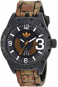 [アディダス]adidas  'Newburgh' Quartz Rubber and Silicone Casual Watch, Color:Brown ADH3192