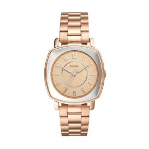 [フォッシル]Fossil  Idealist ThreeHand Rose GoldTone Stainless Steel Watch ES4195