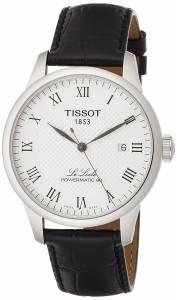 [ティソ]Tissot  Powermatic 80 Silver Dial Black Leather Strap Watch T0064071603300 メンズ