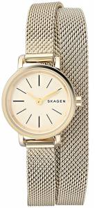 [スカーゲン]Skagen 腕時計 Hagen Gold Mesh Double Wrap Watch SKW2600 レディース