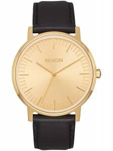 [ニクソン]NIXON 腕時計 Porter All Gold Black Leather A1058510 A1058-510-00 [並行輸入品]