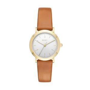 [ダナキャラン]DKNY  'Minetta' Quartz Stainless Steel and Leather Casual Watch, NY2616