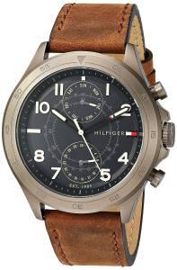 [トミー ヒルフィガー]Tommy Hilfiger Quartz Resin and Leather Casual Watch, 1791343