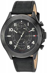 [トミー ヒルフィガー]Tommy Hilfiger Quartz Resin and Leather Casual Watch, 1791345