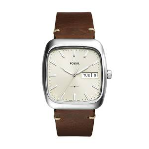 [フォッシル]Fossil 腕時計 Rutherford ThreeHand DayDate Brown Leather Watch FS5329 メンズ