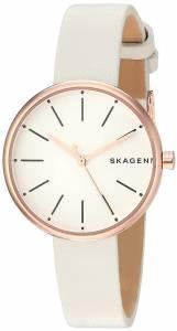 [スカーゲン]Skagen 腕時計 Signatur White Leather Watch SKW2595 レディース